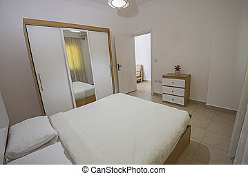 ダブル, アパート, 贅沢, ベッド