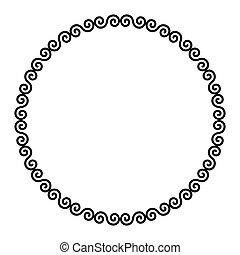 ダブル, ケルト, 円, フレーム, らせん状に動く