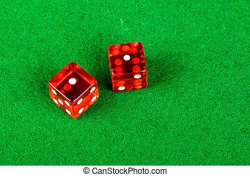 ダブル, 提示, さいころ, サイコロ賭博