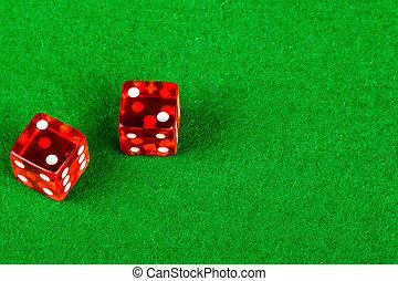 ダブル, 提示, さいころ, サイコロ賭博, 2