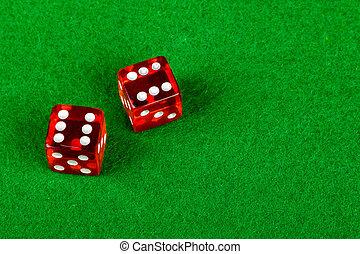 ダブル, 提示, 6, さいころ, サイコロ賭博