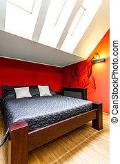 ダブル, 現代, ベッド, 寝室