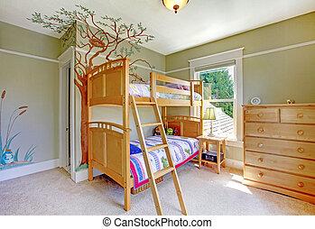 ダブル, bed., 大部分, 寝室, 女の赤ん坊