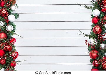 ダブル, sided, ボーダー, クリスマス, お祝い