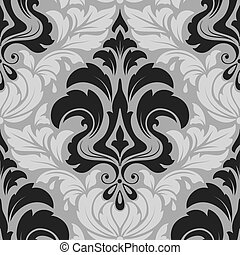 ダマスク織, パターン, 背景, seamless, 手ざわり, 優雅である, ベクトル, 贅沢, 壁紙,...