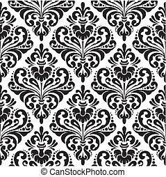 ダマスク織, 壁紙