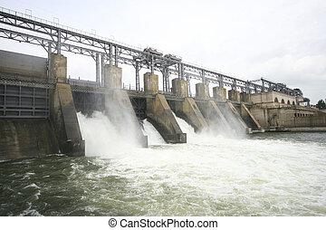 ダム, 川, 水力電気