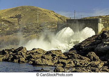 ダム, 水力電気, アイダホ, boise