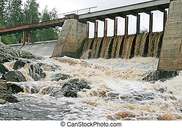 ダム, 駅, 水力発電の力