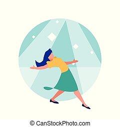ダンサー, 女, 特徴, avatar, ディスコ