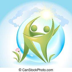 ダンサー, 緑, eco-icon