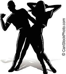 ダンスを結びつけなさい, シルエット