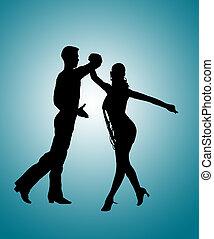 ダンスを結びつけなさい, ルンバ, シルエット