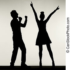 ダンス, の間, 恋人, 幸せ