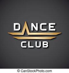 ダンス, アイコン, クラブ, eps10, テキスト