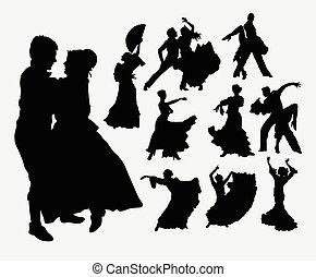 ダンス, シルエット, 伝統的である