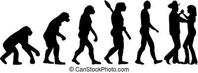 ダンス, 国, 進化