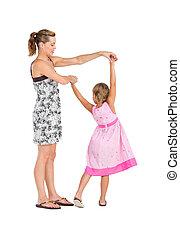 ダンス, 娘, 母