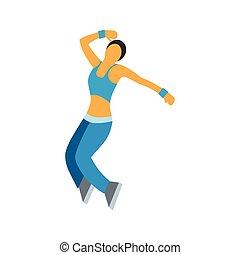 ダンス, 平ら, シンボル, すてきである