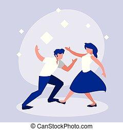ダンス, 恋人, 特徴, avatar, ディスコ