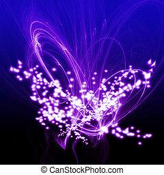 ダンス, 抽象的, 手ざわり, 背景, 明るい紫, 白