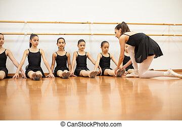 ダンス, 教授, バレエ, 教官, クラス