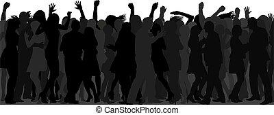 ダンス, 群集