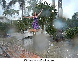 ダンス, 雨