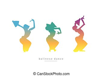ダンス, balinese, 女の子, 3, ダンス