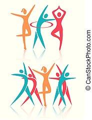 ダンス, icons., 女性フィットネス