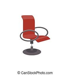 チェアバック, isolated., 旋回装置, オフィス, 快適である, イラスト, ベクトル, 平ら, 高く