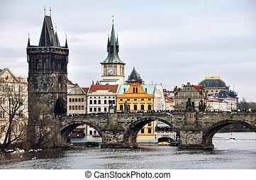 チェコ, 橋, チャールズ, 共和国, プラハ