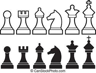 チェス小片