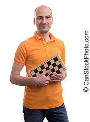 チェス盤, はげ, 保有物, 人