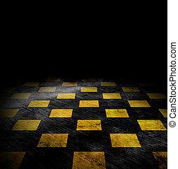 チェス盤, backgound, グランジ, 鮮やか