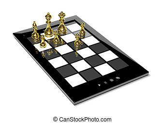 チェス, 上に, タブレット