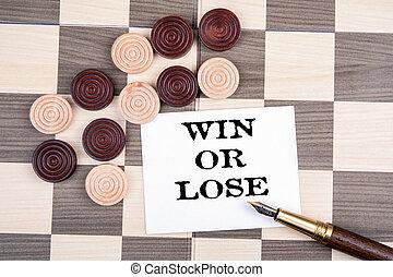 チェッカー, さいころ, 木製である, 勝利, lose., 運動場, ∥あるいは∥