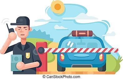 チェックポイント, 交通, 警察