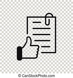 チェックマーク, ビジネス, 合意, 公認, 承認しなさい, イラスト, ベクトル, concept., style...