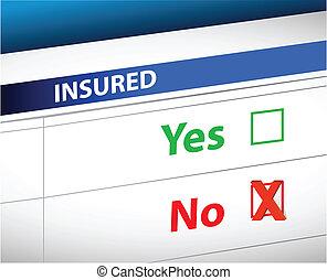 チェックリスト, 上に, 選択, 保険