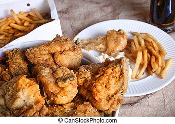 チキンの夕食