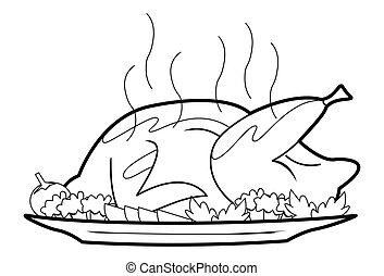 チキンを焼いた