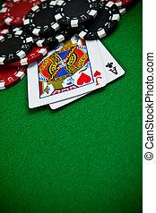 チップ, カード, ギャンブル