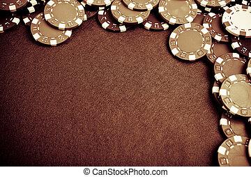 チップ, ギャンブル, -, グランジ, スタイルを作られる