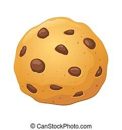 チップ, ベクトル, クッキー, イラスト, チョコレート