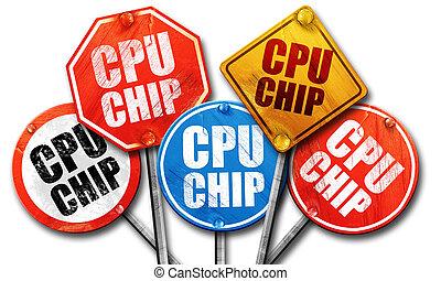 チップ, レンダリング, 通りは 署名する, cpu, 3d