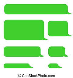 チャット, 泡, sms, 背景, 電話