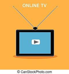 チャネル, tv, オンラインで, インターネット