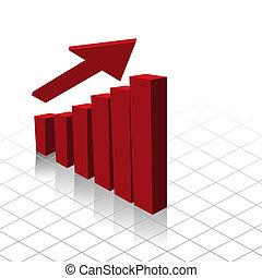 チャート, グラフ, 利益, 増加