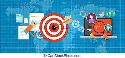 チャート, ターゲット, インターネットトラフィック, 作戦, 管理しなさい, 測定, オンラインで
